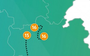etappe 16 - Scheidingsplanner Maastricht   Heerlen   Gulpen