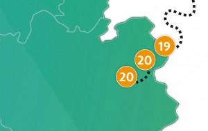 etappe 20 - Scheidingsplanner Maastricht   Heerlen   Gulpen