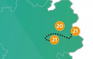 etappe 21 - Scheidingsplanner Maastricht   Heerlen   Gulpen