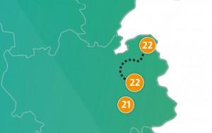etappe 22 - Scheidingsplanner Maastricht   Heerlen   Gulpen